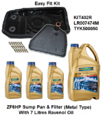 KIT402R ZF6HP26 Auto Easy Fit Metal Sump Conversion Kit With Oil Discovery 3, Range Rover L322&L320